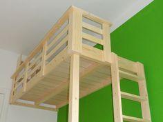 Kinderhochbett selber bauen  Details zu KINDER KLETTERWAND