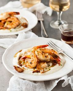 Garlic Brown Butter Shrimp with Cauliflower Puree - This dish looks downright indulgent, but it's still surprisingly healthy. Grilled prawns sit on top of a cauliflower puree, which is bursting with immune-boosting vitamin C and metabolism-regulating vitamin B6. It's all topped off with a garlic-infused brown butter sauce that's just bursting with flavor.