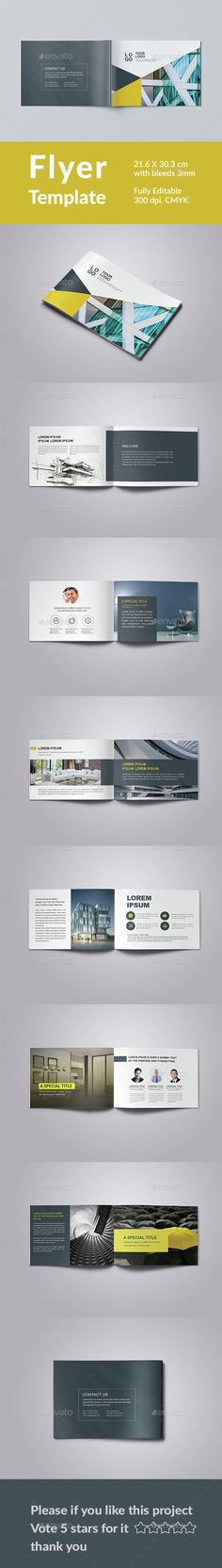Corporate Brochure Template — Photoshop PSD #a5 #brochure • Available here → https://graphicriver.net/item/corporate-brochure-template/15373885?ref=pxcr