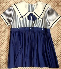 tiny vintage baby sailor dress by vintagetea on Etsy, $8.95