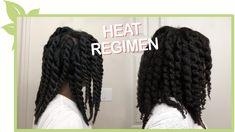 Heat Regimen - DETAILED Natural Hair Types, Natural Hair Regimen, Natural Hair Growth, Natural Curls, Natural Hair Moisturizer, Hair Porosity, Hair Density, Hair Videos