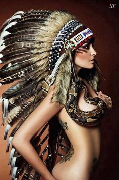 'Thick feathers, tattoo love & a snake on point' Check out our online shop and get inspired by our huge collection of Indian Headdresses. We ship world wide