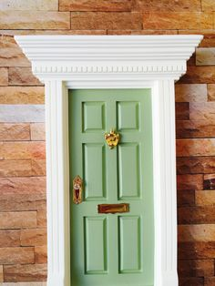 Mint Green Fairy Door by FairyAvenue on Etsy https://www.etsy.com/listing/212676391/mint-green-fairy-door