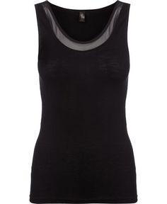 Femilet Juliana top i sort eller t-shirt sort el grå, str. L, kr. 180-250,-