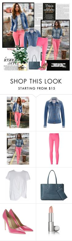 """""""Sem título #312"""" by soleuza ❤ liked on Polyvore featuring Love Moschino, MINKPINK, Aspinal of London, Salvatore Ferragamo, Dolce&Gabbana, denim, look, jacket and polyvoreset"""