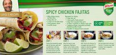 Make tonight fajita night! Chicken Marinades, Chicken Fajitas, Stock Cubes, Snack Recipes, Snacks, Chicken Tenders, Spicy, Lime, Tasty