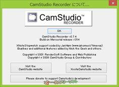 CamStudio 2.7.4 Build r354  CamStudio--CamStudioについて--オールフリーソフト