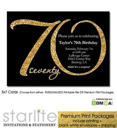 Black And Gold Birthday Invitations intended for Inspiration - Birthday Ideas Make it 70th Birthday Invitations, Disney Invitations, 70th Birthday Parties, Gold Invitations, Engagement Party Invitations, Save The Date Invitations, Birthday Invitation Templates, Printable Invitations, Invitation Cards