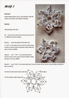 Designer of many tatting patterns. Simple method of beaded tatting. Flowers are my inspiration!