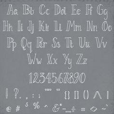 Hand Written Font Le Petit Parisien // Modern by thePENandBRUSH