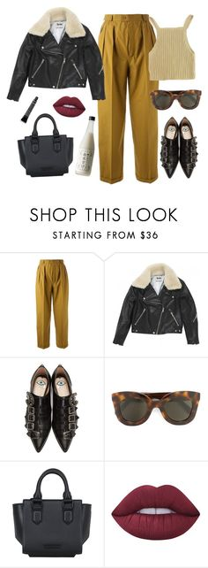 """""""I might just say how I feel"""" by chanelandcoke ❤ liked on Polyvore featuring Yves Saint Laurent, Acne Studios, Gucci, CÉLINE, Kendall + Kylie, Lime Crime and Grown Alchemist"""