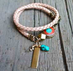 bolo cord with charms