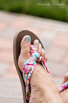 Upgrade Fabric sandals from $1flip flops