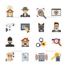 Surveillance And Security Icons Set - Technology Icons