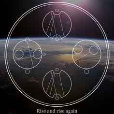 """Rise and rise again"" Made with Gallifreyan Translator. #Gallifreyan #DoctorWho"