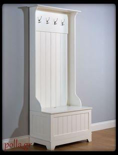 Hallway Storage Coat Rack Home Wood Furniture Hanger 4 Hook Space Organiser Whit