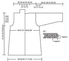 """DROPS 110-29 - Saco de punto DROPS en """"Eskimo"""" con patrón de motitas.  Talla S – XXXL. - Free pattern by DROPS Design"""