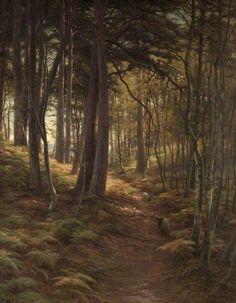 """The Silent Evening Hour"" c.1911 oil  - Joseph Farquharson (1846-1935)"