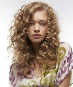 long bangs curly