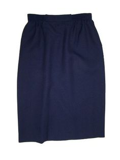 Alfred Dunner Womens Polyester Skirt (Navy, 10 Petite). Get all the sophistication of a straight skirt with ease of movement provided by the kick pleat in the back. No matter the time of day or year, you'll always get the perfect fit with this elastic waistline. Women deserve pockets too, which is why this comfortable skirt is fully equipped with side pockets. Alfred Dunner only makes the highest quality of products, so you'll be wearing this skirt season after season. The skirt is…