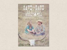 Rustic Save the Date Announcement by fancybelle on Etsy