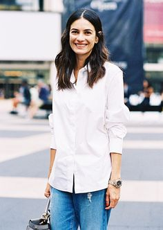 #6: Crisp White Shirt: A fresh white shirt looks fantastic with everything from a full shirt to slouchy boyfriend jeans