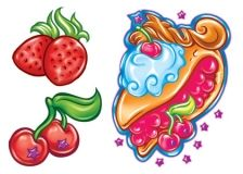 Cherry Pie & Strawberries Tattoos