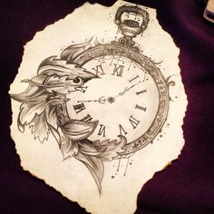 Pocket Watch, Pencil drawing | Caitlin-Rose x