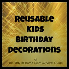 The Stay-at-Home-Mom Survival Guide: Reusable Kids Birthday Decorations: BuildASign.com Review and Giveaway