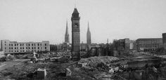 Coventry flattened after the Blitz (Getty Images).