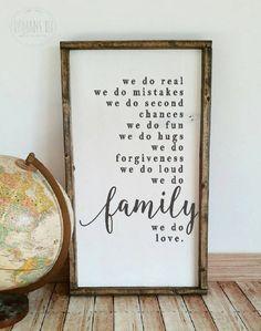 DIY farmhouse style stencil or vinyl decal / We do family stencil / we do love sign / family decal / reusable stencils