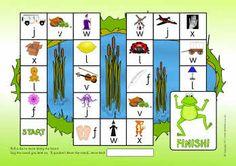 F L J V W X phonics board game