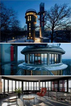 Now I need a tower home. This house was built inside an historic water tower in Germany.