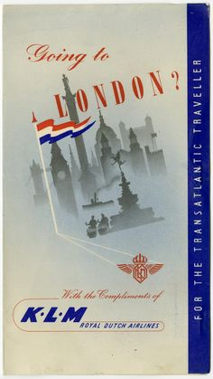 KLM Poster 1940s/50s