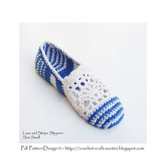 Ravelry: Lace & Stripe Espadrilles/Toms - Basic Slipper Pattern pattern by Ingunn Santini. €5.00 EUR about $7.10. ☀CQ #crochet #apparel http://www.pinterest.com/CoronaQueen/crochet-apparel-corona/