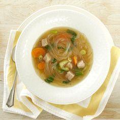 Asian Pork and Noodle Soup