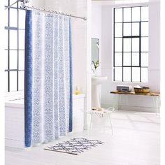 "Shower Curtain Rotary Print - Blue - (72X72"") - Threshold™"