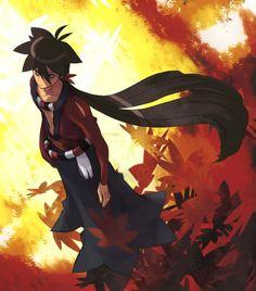 Shichika Yasuri (Katanagatari) Anime Artwork, Fantasy Artwork, Samurai Anime, Natsume Yuujinchou, Webtoon Comics, Fanart, Roronoa Zoro, Neon Genesis Evangelion, Pretty Wallpapers