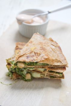 kale spinach apple quesadilla - babyfoode