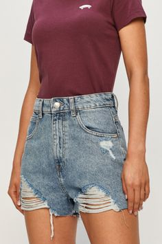 Tally Weijl - Pantaloni scurti jeans cu modele de rupturi in fata Tally Weijl, Cool Outfits, Denim Shorts, Clothes, Casual, Women, Products, Fashion, Outfits