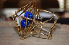 Moonstone & Lapis cage bracelet.