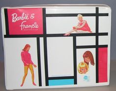 1965 Barbie Francie Double Doll Case White for clothes