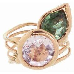 Lucifer Vir Honestus Spring Ring In Rose Gold With Tourmalines