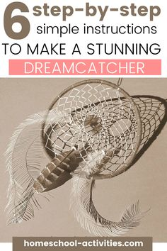 This is a simple tutorial you can do with your older children to show you how to make a dream catcher step by step. Very relaxing, enjoyable and great to de-stress. #nativeindiancrafts #dreamcatchers #homeschoolactivitiescom