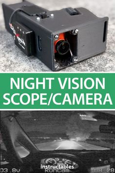 This night vision scope/camera is capable of recording in very low light and can be used in a variety of scenarios including recording night footage. #Instructables #electronics #technology #monocular Solar Camera, Police Story, Diy Projects Plans, Dc Dc Converter, Dashcam, Photography Projects, Electronics Projects, Robotics, Low Lights