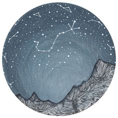 """Calling all star gazers! """"Scorpio and the Blue Ridge Mountains"""" by Elise Mahan will add a touch of natural beauty to your home. This astronomy inspired wall decal features the """"Scorpio"""" constellation seen over the Blue Ridge Mountains at night. Available in 3 sizes: S-8""""w x 8""""h; M-15""""w x 15""""h; L-36""""w x 36""""h. We make our stickers with SafeCling, a high quality polyester fabric material that is mess-free, removable, repositionable, non-toxic and environmentally safe. Just peel and stick! Easy…"""
