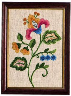 CW 401 Floral Starter beginner crewel embroidery kit