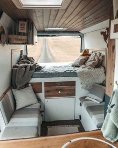 Bus Living, Tiny House Living, Living Spaces, Van Interior, Interior Design, Van Home, Camper Van Conversion Diy, Bus Life, Van Camping