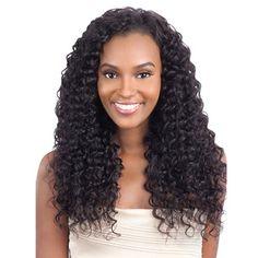 MODEL MODEL NUDE LEAF 100% BRAZILIAN REMY HAIR WEAVING DEEP WAVE 7PCS (18,20,22)
