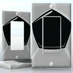 DIY Do It Yourself Home Decor - Easy to apply wall plate wraps | Black and White Football  Football pattern  wallplate skin sticker for 1 Gang Decora LightSwitch | On SALE now only $3.95